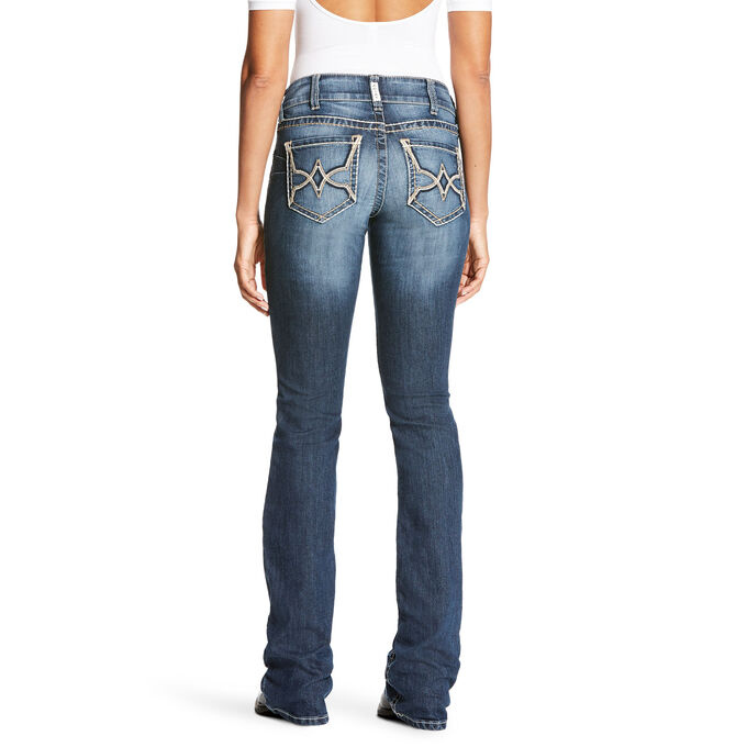 R.E.A.L Mid Rise Diamond Boot Cut Jean