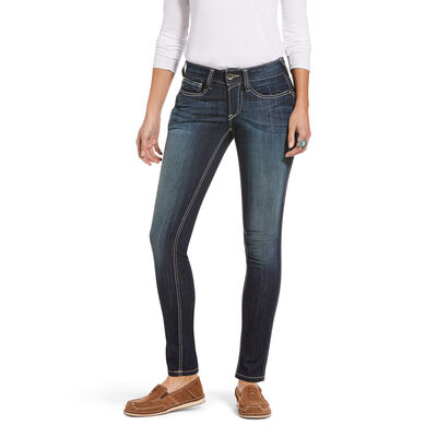 R.E.A.L. Mid Rise Stretch Outseam Ella Skinny Jean