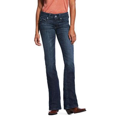 R.E.A.L. Mid Rise Arrow Fit Stretch Angel Boot Cut Jean