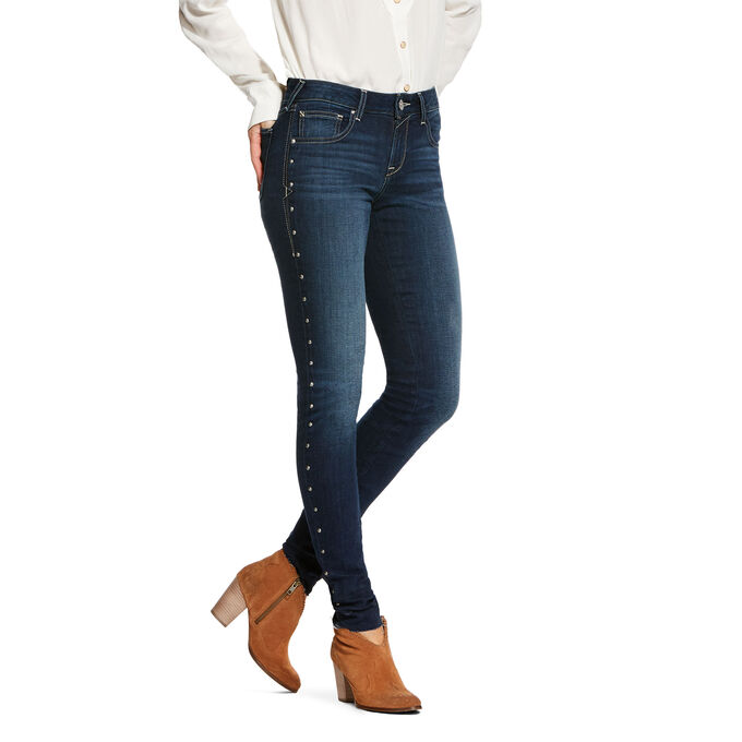 Ultra Stretch Mid Rise Oilvia Skinny Jean