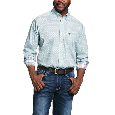 Wrinkle Free Zillowbrook Print Classic Fit Shirt