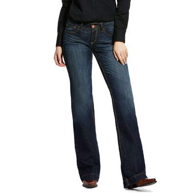 Trouser Mid Rise Stretch Lesli Wide Leg Jean