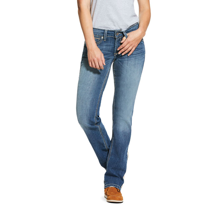 R.E.A.L. Mid Rise Stretch Presley Stackable Straight Leg Jean