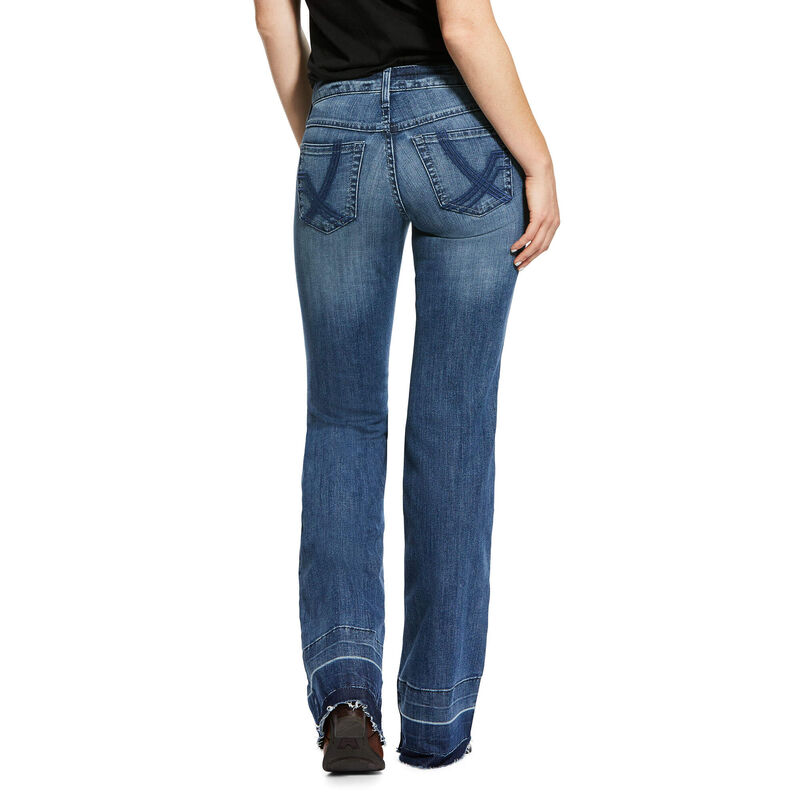 Trouser Mid Rise Stretch Whitney Wide Leg Jean