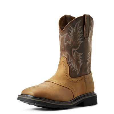 Sierra Wide Square Toe Work Boot
