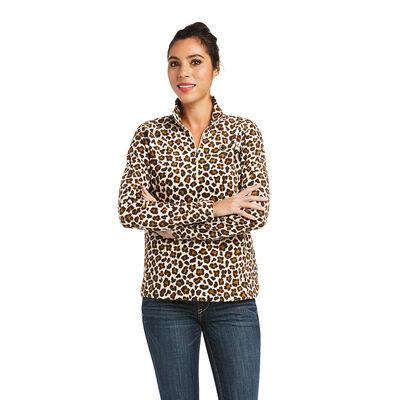Printed Fleece 1/4 Zip Sweatshirt