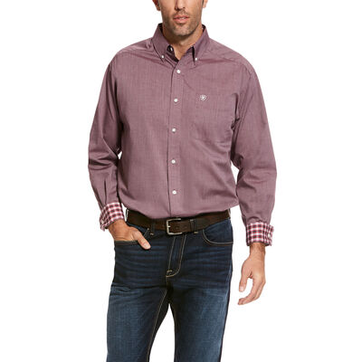 Wrinkle Free Solid Pinpoint Classic Fit Shirt