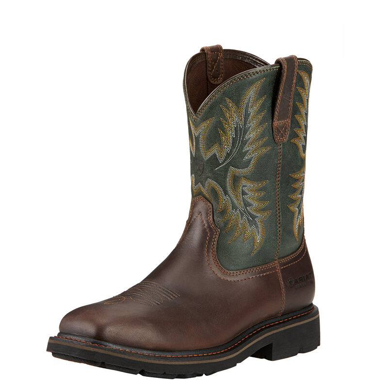 Sierra Wide Square Toe Steel Toe Work Boot