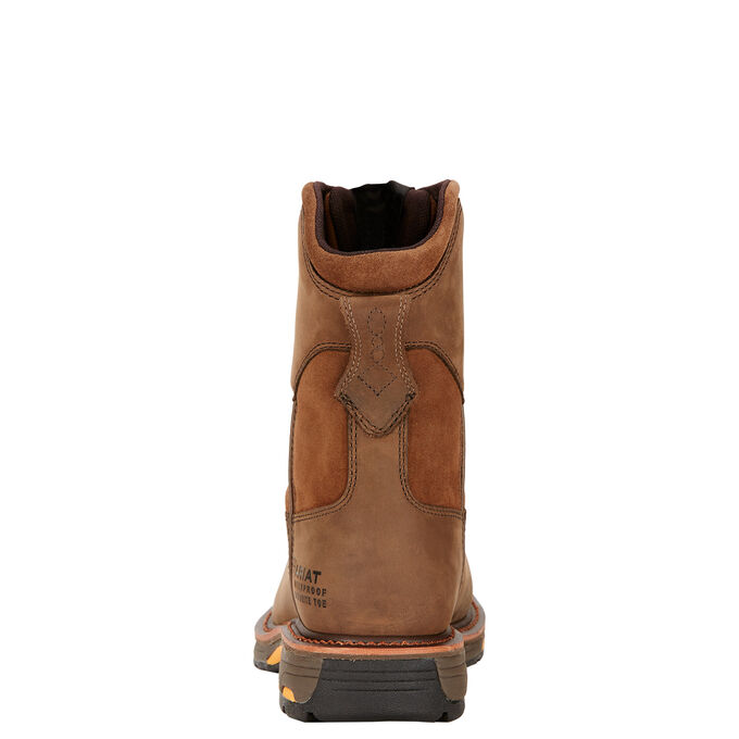 "WorkHog 8"" Wide Square Toe Waterproof Composite Toe Work Boot"