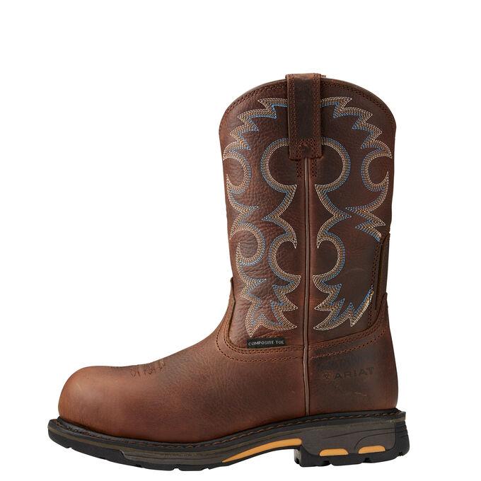 Women's Dark Brown Composite Toe Work Boot