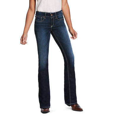 R.E.A.L. Perfect Rise Stretch Ella Satin Stitch Boot Cut Jean