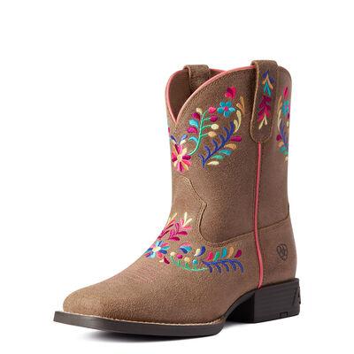 Youth Wild Flower Western Boot