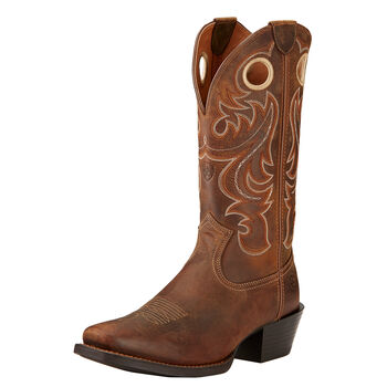 Sport Square Toe Western Boot