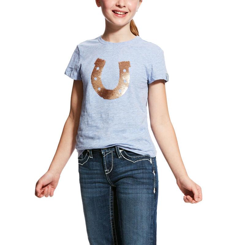 Girls' Sequin Shoe T-Shirt