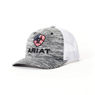 Flag Shield Mesh Snap Back Cap