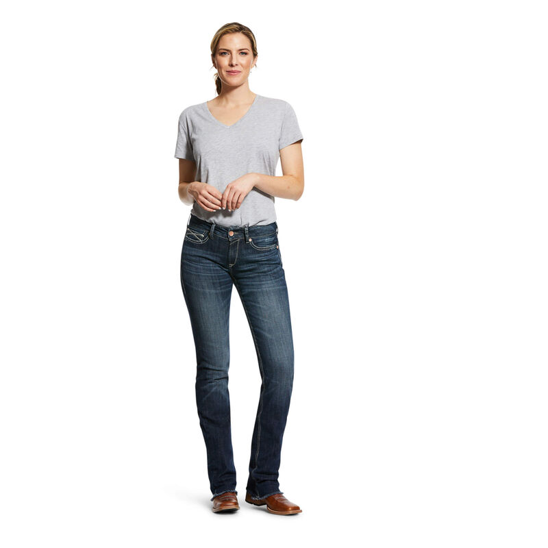 R.E.A.L. Perfect Rise Stretch Patty Stackable Straight Leg Jean