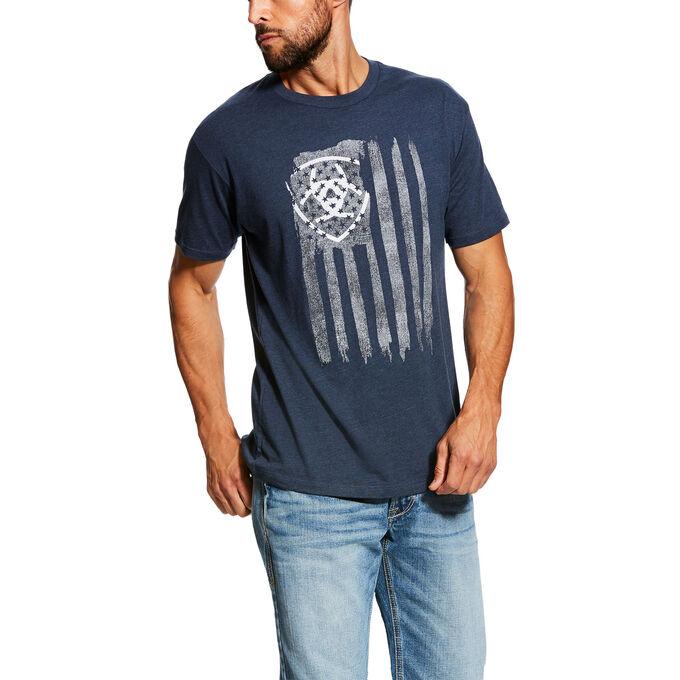 Vertical Flag Short Sleeve T-Shirt