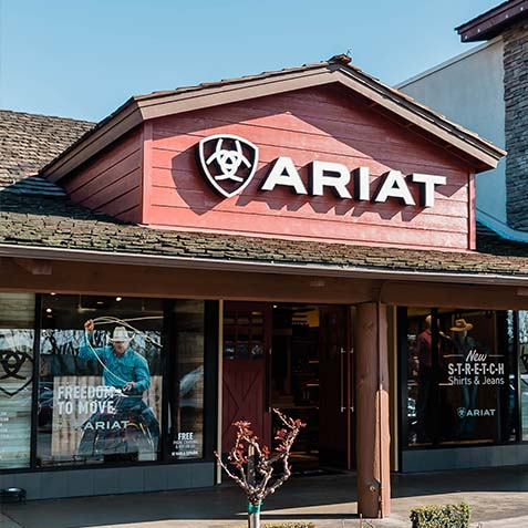 Ariat Brand Shop   Fresno   Store sign