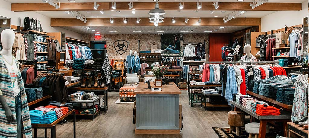 Ariat Brand Shop   Fresno   Store inner view
