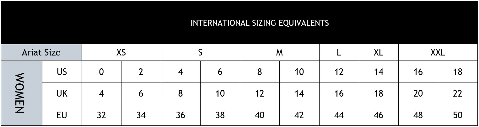dress size equivalents